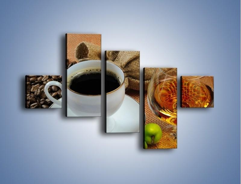 Obraz na płótnie – Wieczorowa kawa z prądem – pięcioczęściowy JN166W3