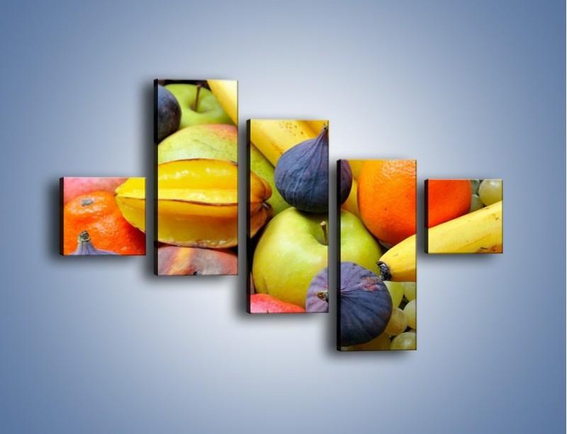 Obraz na płótnie – Owocowe kolorowe witaminki – pięcioczęściowy JN173W3