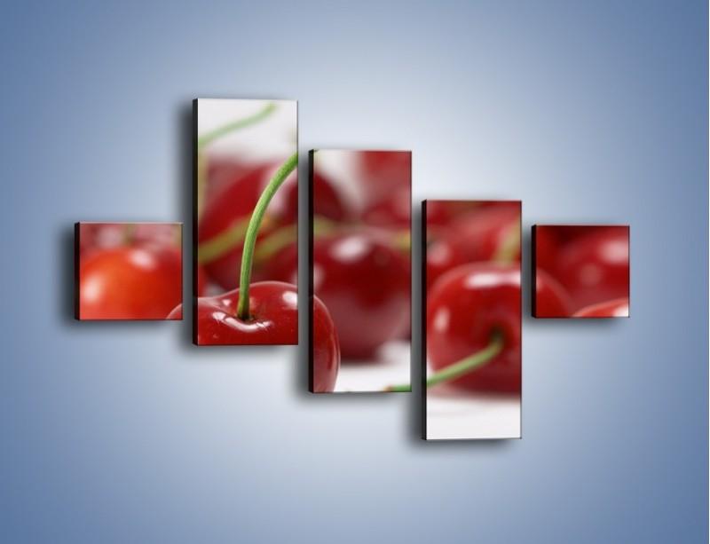 Obraz na płótnie – Czereśnia rządzi w kuchni – pięcioczęściowy JN223W3