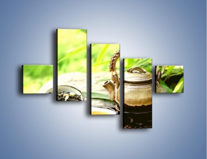 Obraz na płótnie – Herbata na świeżym powietrzu – pięcioczęściowy JN249W3