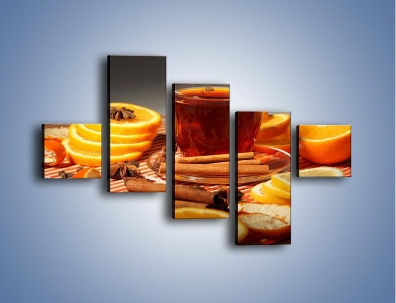 Obraz na płótnie – Imbirowo-pomarańczowe rozluźnienie – pięcioczęściowy JN260W3