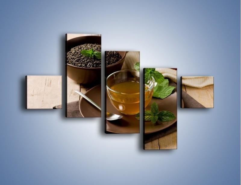 Obraz na płótnie – Filiżanka herbaty na poprawę humoru – pięcioczęściowy JN264W3
