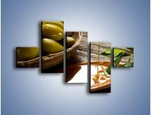 Obraz na płótnie – Bogactwa wydobyte z oliwek – pięcioczęściowy JN270W3