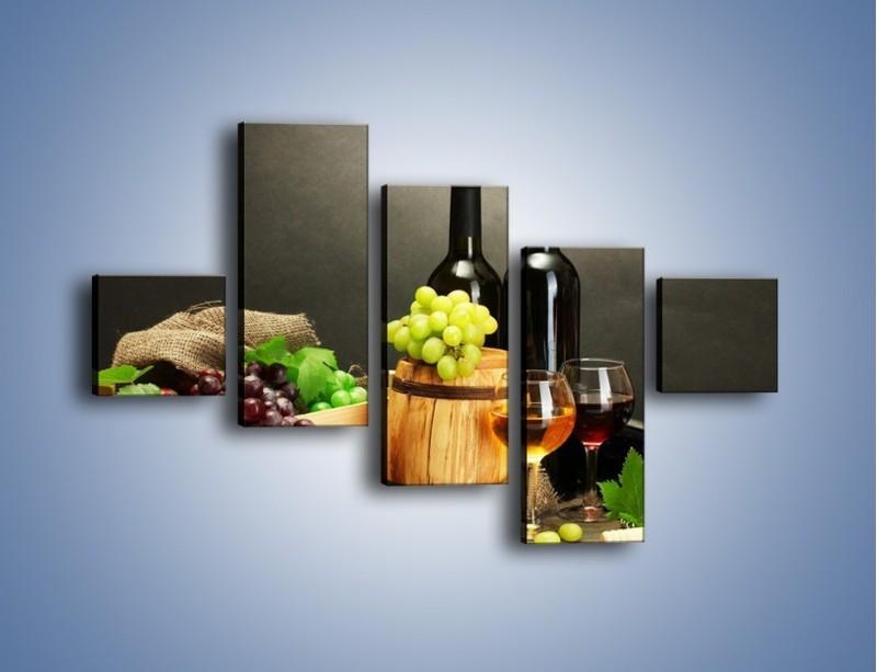 Obraz na płótnie – Wytrawne smaki wina – pięcioczęściowy JN289W3