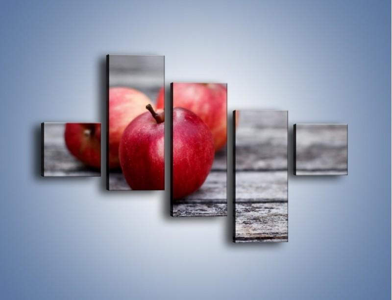 Obraz na płótnie – Jabłkowe zdrowie – pięcioczęściowy JN296W3