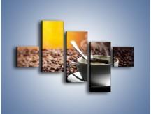 Obraz na płótnie – Aromatyczna filiżanka kawy – pięcioczęściowy JN298W3