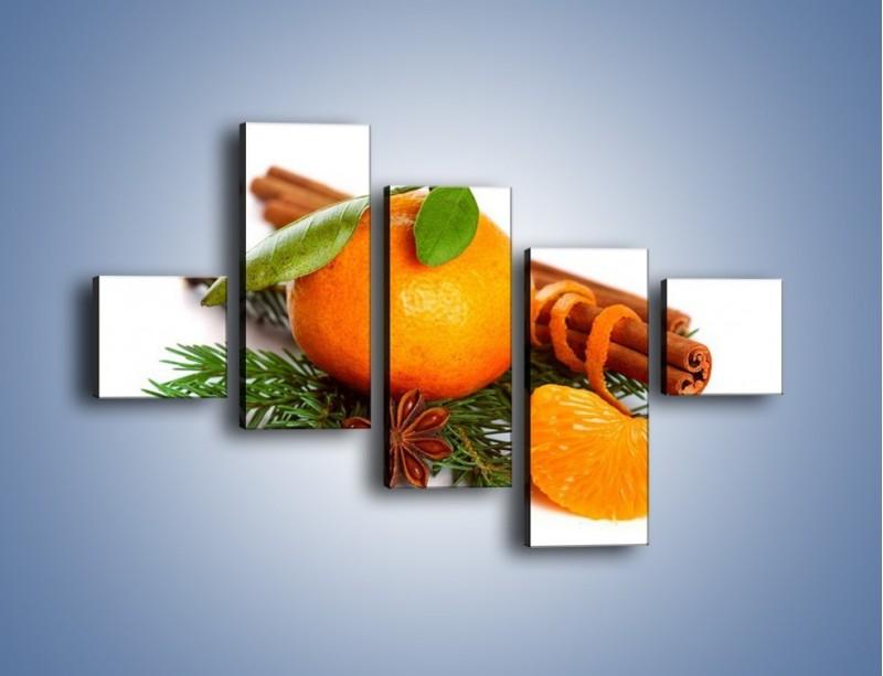 Obraz na płótnie – Pomarańcza na święta – pięcioczęściowy JN306W3