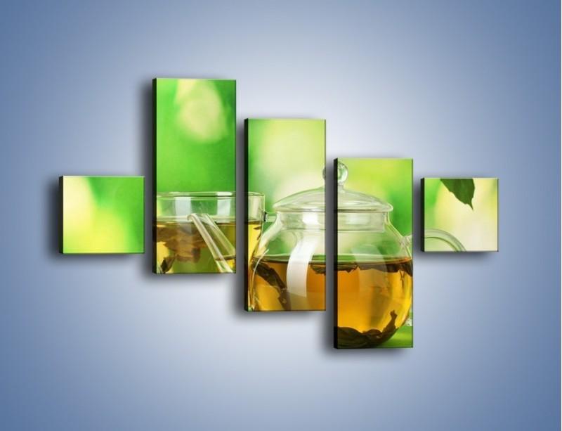 Obraz na płótnie – Herbaciane ukojenie – pięcioczęściowy JN316W3