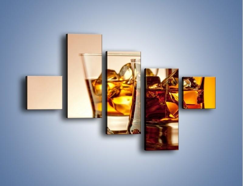 Obraz na płótnie – Męskie rozmowy przy whisky – pięcioczęściowy JN318W3