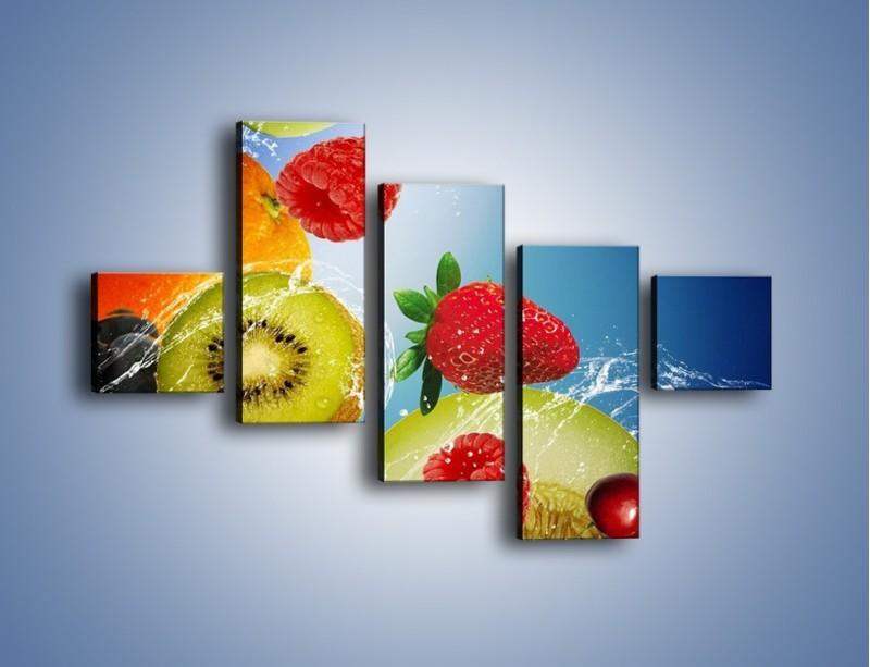 Obraz na płótnie – Owoce o poranku – pięcioczęściowy JN331W3