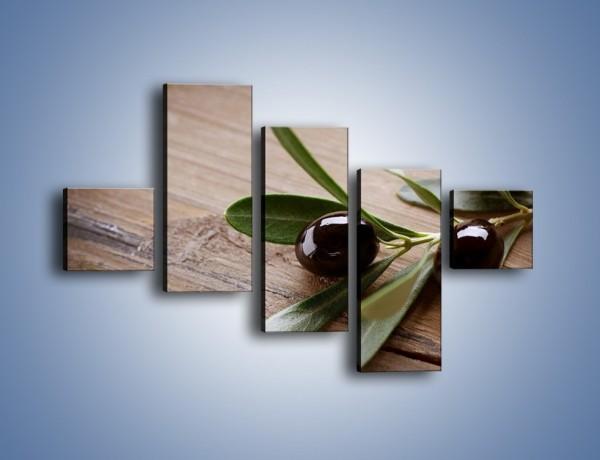 Obraz na płótnie – Oliwki na stole – pięcioczęściowy JN333W3