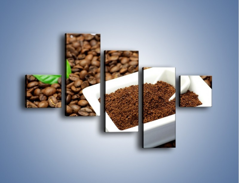 Obraz na płótnie – Zmielona kawa – pięcioczęściowy JN340W3