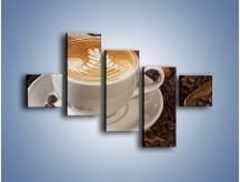 Obraz na płótnie – Czas na kawę – pięcioczęściowy JN353W3
