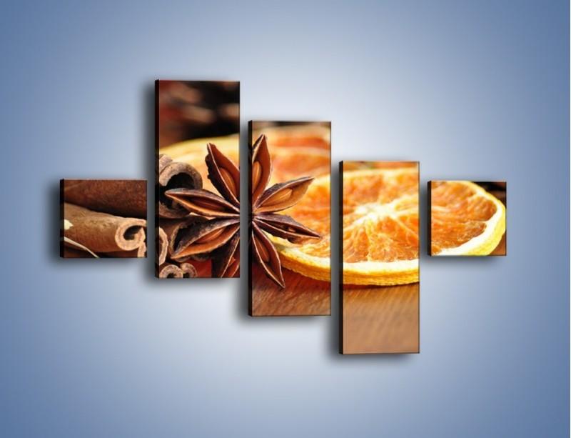Obraz na płótnie – Pomarańcza z dodatkami – pięcioczęściowy JN357W3