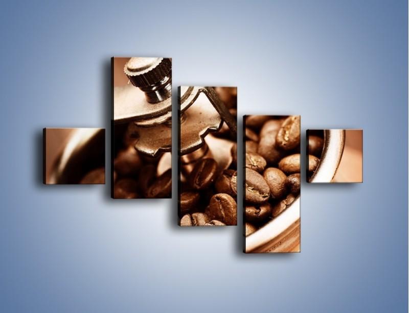 Obraz na płótnie – Kawa w młynku – pięcioczęściowy JN361W3