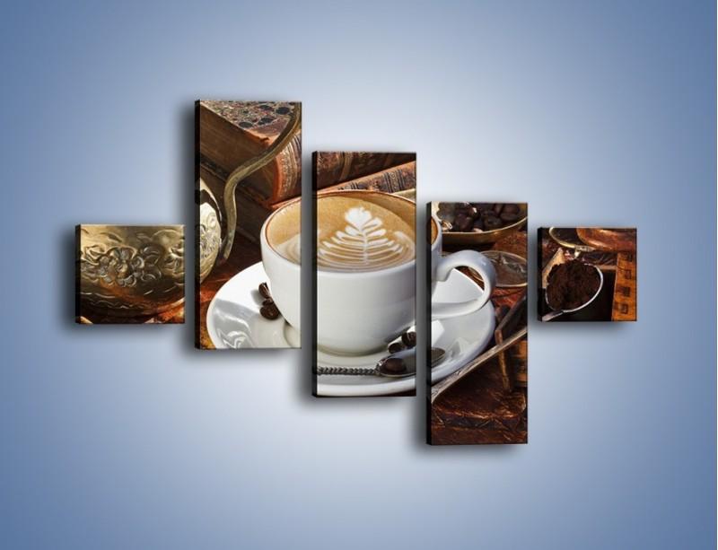 Obraz na płótnie – Wspomnienie przy kawie – pięcioczęściowy JN377W3