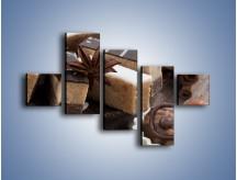 Obraz na płótnie – Czekoladowo-orzechowe wypieki – pięcioczęściowy JN427W3
