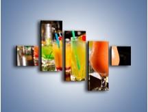 Obraz na płótnie – Barmańskie drinki – pięcioczęściowy JN433W3