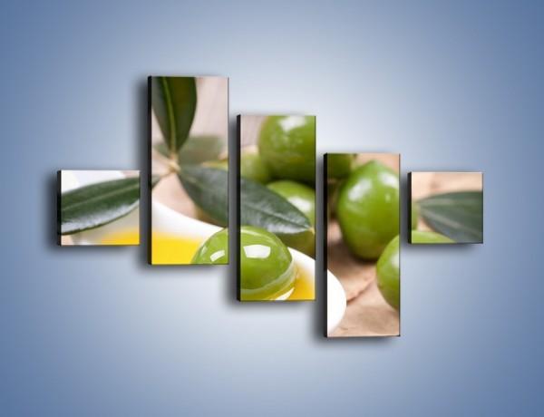 Obraz na płótnie – Zamoczone oliwki – pięcioczęściowy JN511W3