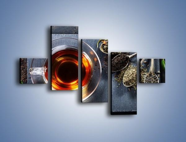 Obraz na płótnie – Herbata i inne dodatki – pięcioczęściowy JN596W3