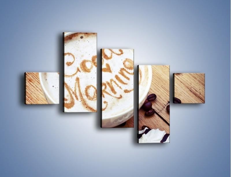 Obraz na płótnie – Kawa z bezą – pięcioczęściowy JN605W3