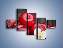 Obraz na płótnie – Czerwone jabłka późną jesienią – pięcioczęściowy JN619W3