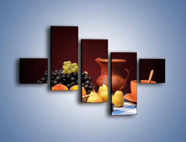 Obraz na płótnie – Stół pełen owocowych darów – pięcioczęściowy JN691W3