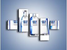 Obraz na płótnie – Czysta wódka w butelkach – pięcioczęściowy JN748W3