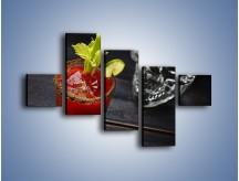 Obraz na płótnie – Czerwony drink z selerem – pięcioczęściowy JN751W3
