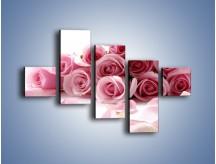 Obraz na płótnie – Nadal piękne róże – pięcioczęściowy K167W3