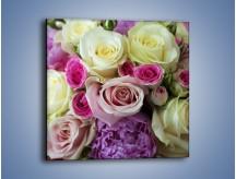 Obraz na płótnie – Róże duże i małe – jednoczęściowy kwadratowy K052