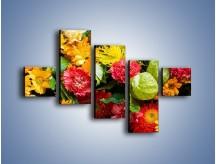 Obraz na płótnie – Bukiet pełen soczystych kolorów – pięcioczęściowy K461W3