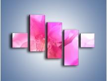 Obraz na płótnie – Budzący dzień w różowym kwiecie – pięcioczęściowy K487W3