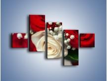 Obraz na płótnie – Małżeństwo przysięga i róże – pięcioczęściowy K681W3
