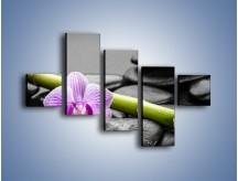 Obraz na płótnie – Bambus czy storczyk – pięcioczęściowy K686W3