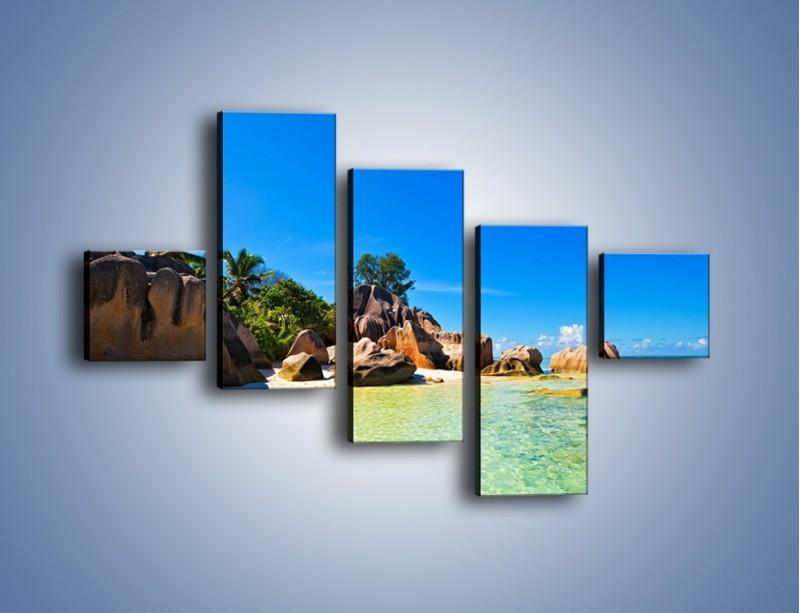 Obraz na płótnie – Bezludna wyspa i ja – pięcioczęściowy KN1058W3