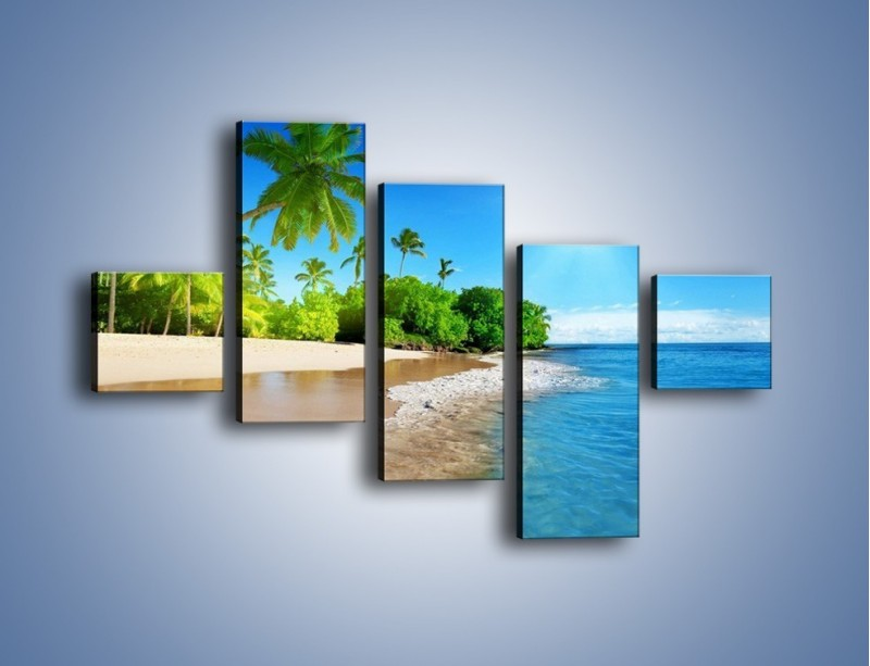 Obraz na płótnie – Bajeczne wakacyjne wspomnienia – pięcioczęściowy KN1110AW3