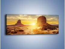 Obraz na płótnie – Budowle na piachu – jednoczęściowy panoramiczny KN1133A