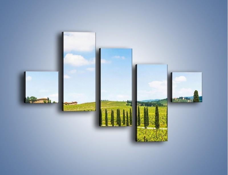 Obraz na płótnie – Wszyscy stoją w jednym szeregu – pięcioczęściowy KN1156AW3