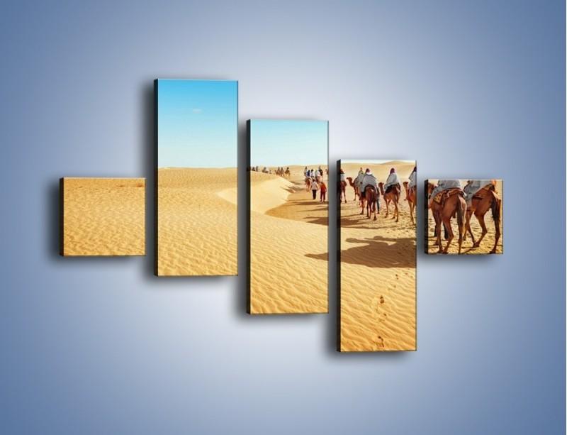 Obraz na płótnie – Szła karawana przez pustynię – pięcioczęściowy KN1173AW3