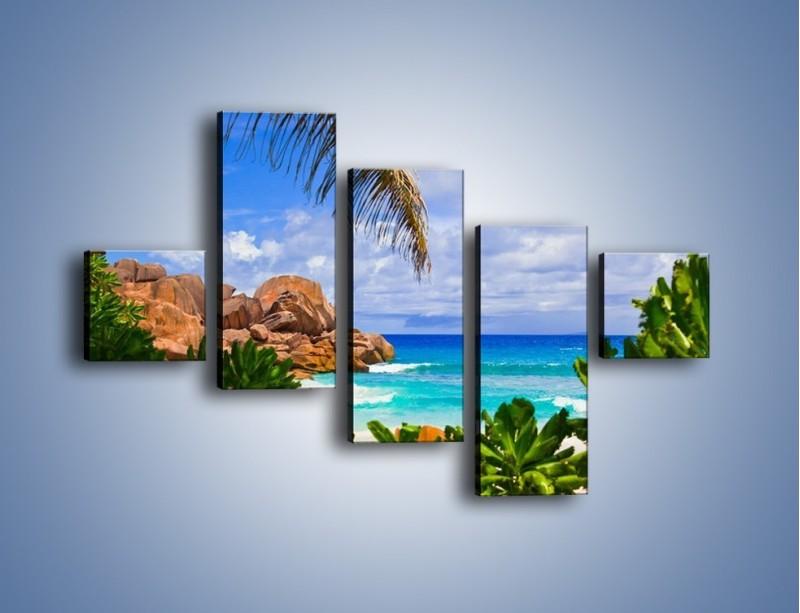 Obraz na płótnie – Urlop pod palmami – pięcioczęściowy KN1191AW3