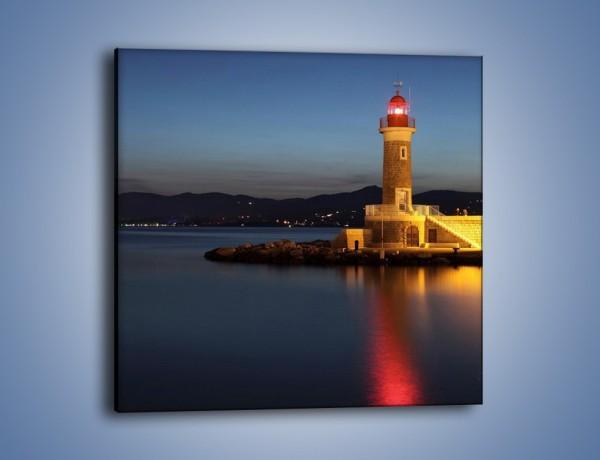 Obraz na płótnie – Latarnia morska wieczorem – jednoczęściowy kwadratowy AM198