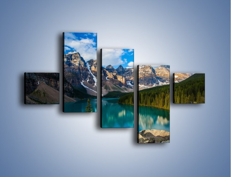 Obraz na płótnie – Spokój w górach – pięcioczęściowy KN1258AW3