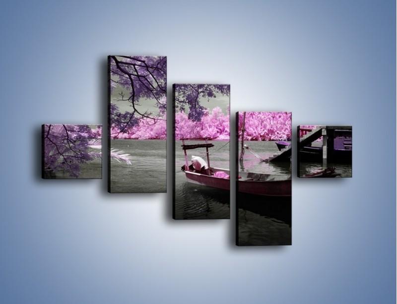 Obraz na płótnie – Krajobraz jak z japonii – pięcioczęściowy KN1277AW3
