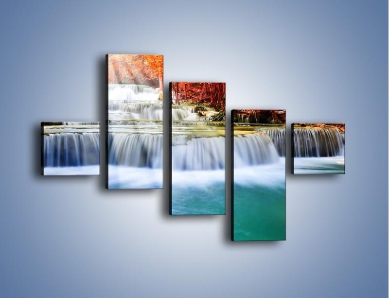 Obraz na płótnie – Jak przyjemnie nad wodą – pięcioczęściowy KN1291AW3