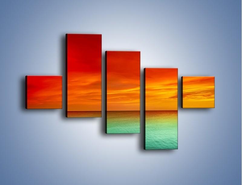 Obraz na płótnie – Horyzont w kolorach tęczy – pięcioczęściowy KN1303AW3
