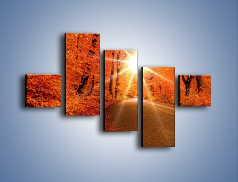Obraz na płótnie – Droga pełna słońca – pięcioczęściowy KN160W3