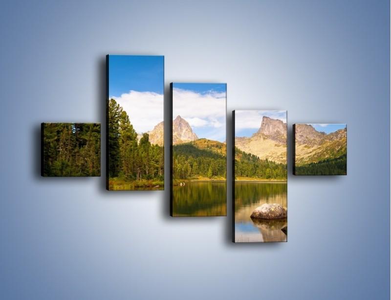 Obraz na płótnie – Widok nie tylko na góry – pięcioczęściowy KN401W3