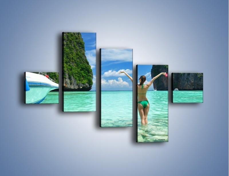 Obraz na płótnie – Udane wakacje w ciepłych krajach – pięcioczęściowy KN530W3