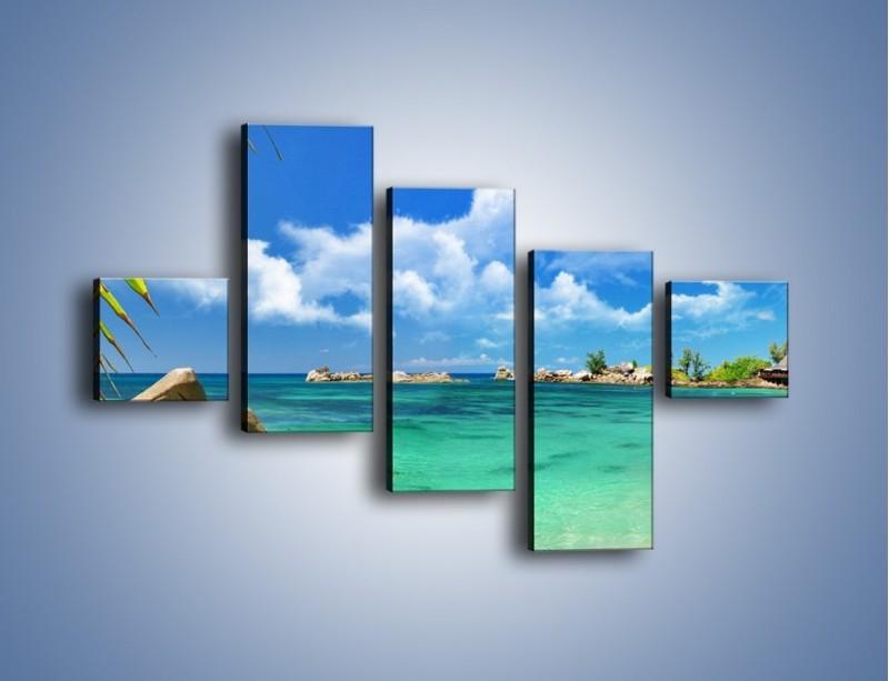 Obraz na płótnie – Tropikalna wyspa z katalogu – pięcioczęściowy KN565W3